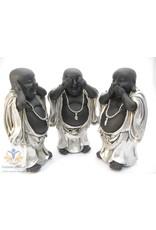 Boeddha staande beelden horen zien zwijgen