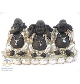 Boeddha beeld horen zien zwijgen op plateau
