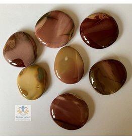 Mookaiet (Mokaiet)  platte edelsteen  (schijfsteen)