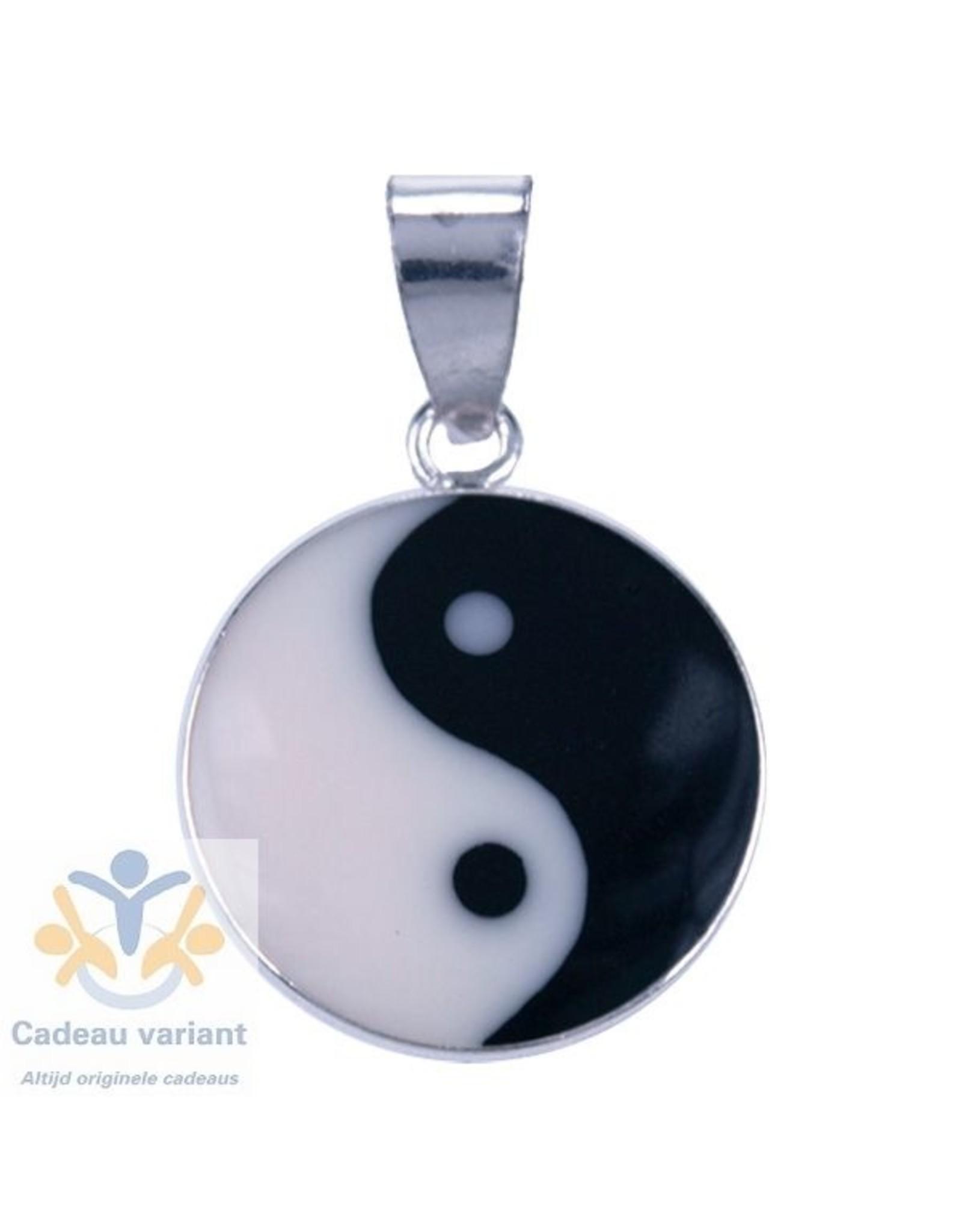 Yin Yang zilver hanger