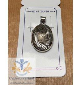Medaillon ovaal zilver 20 x 27 mm