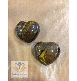 Tijgerijzer edelsteen hart 4 cm