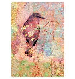 Zintenz Briefkaart vogel pastelkleuren