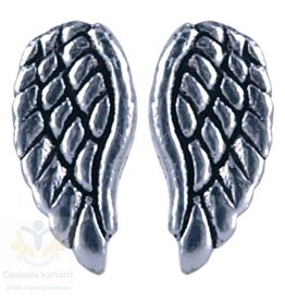 Engel vleugel oorbellen zilver (oorsteker)
