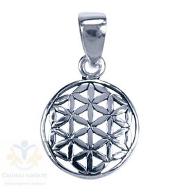 Flower of life zilver hanger