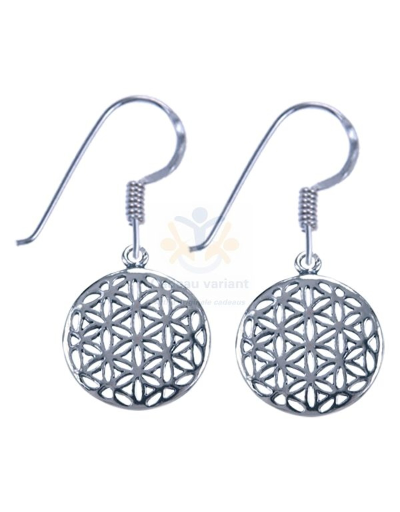 Flower of life zilver oorbellen