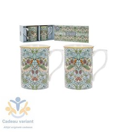 Leonardo collectie Mokkenset strawberry thief  William Morris