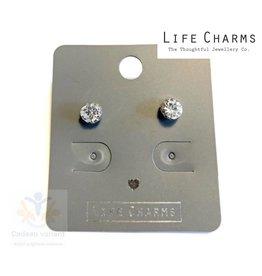 Diamand oorbellen knop (oorstekers)