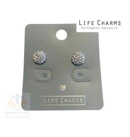 Crystal disc oorbellen knop (oorstekers)