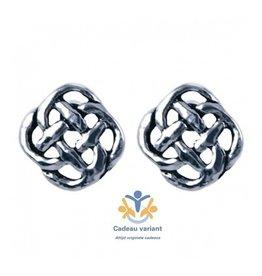 Keltische knoop oorbellen zilver (oorsteker)