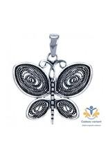 Vlinder zilveren filligrain hanger