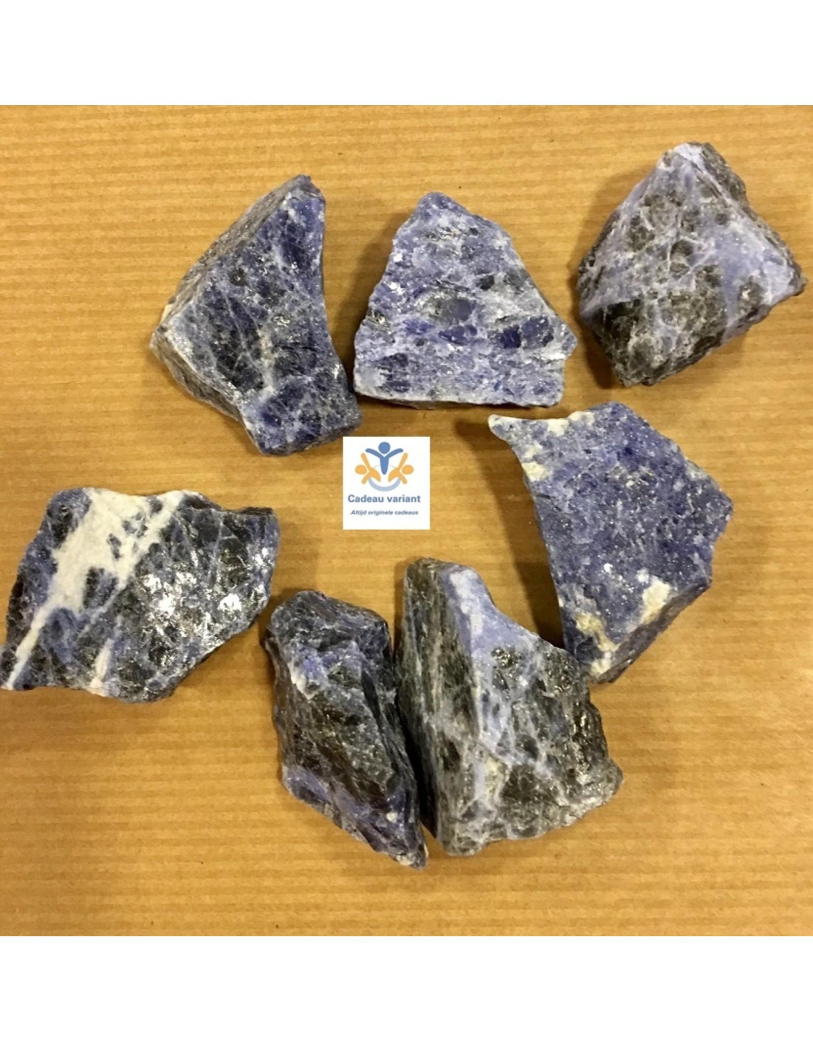 Sodaliet blauwe edelsteen