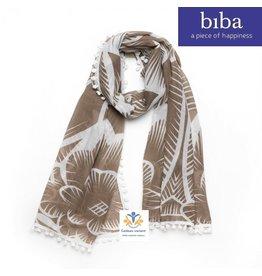 Biba Biba sjaal 72899 wit bruin