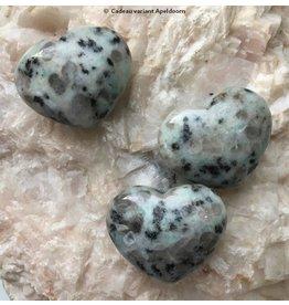 Jaspis kiwi edelsteen hart