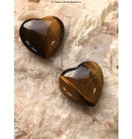 Tijgeroog edelsteen hart 3 cm