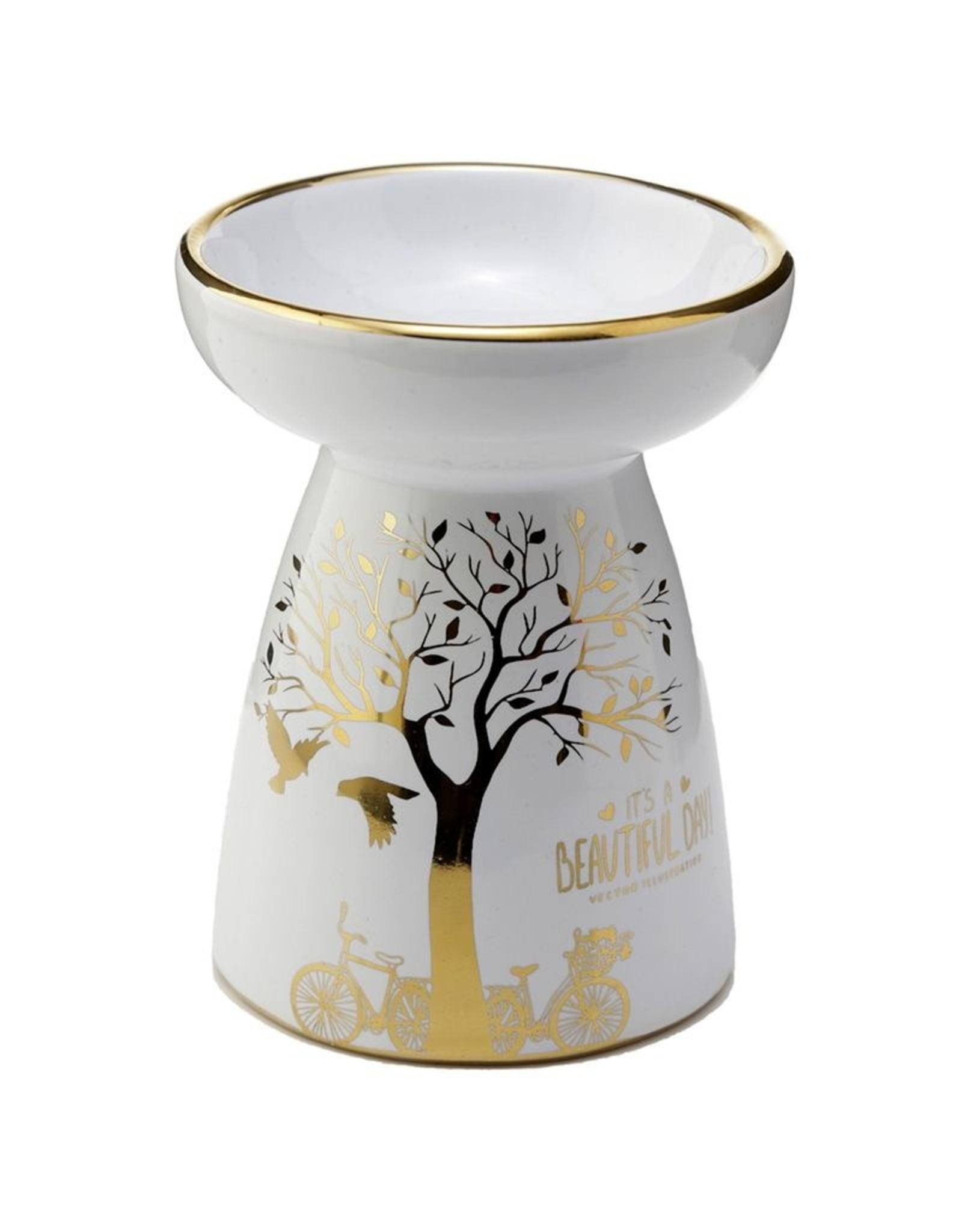 Geurbrander wit goud boom