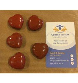Jaspis rood edelsteen hart 3 cm