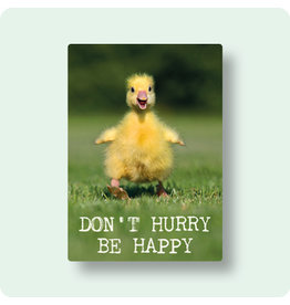Briefkaart don't hurry be happy
