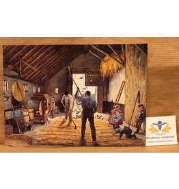 Briefkaart nostalgie hooischuur