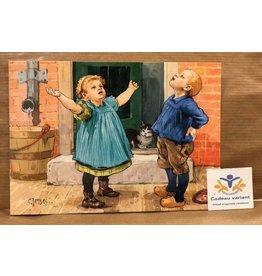 Briefkaart Ot en Sien vertellen