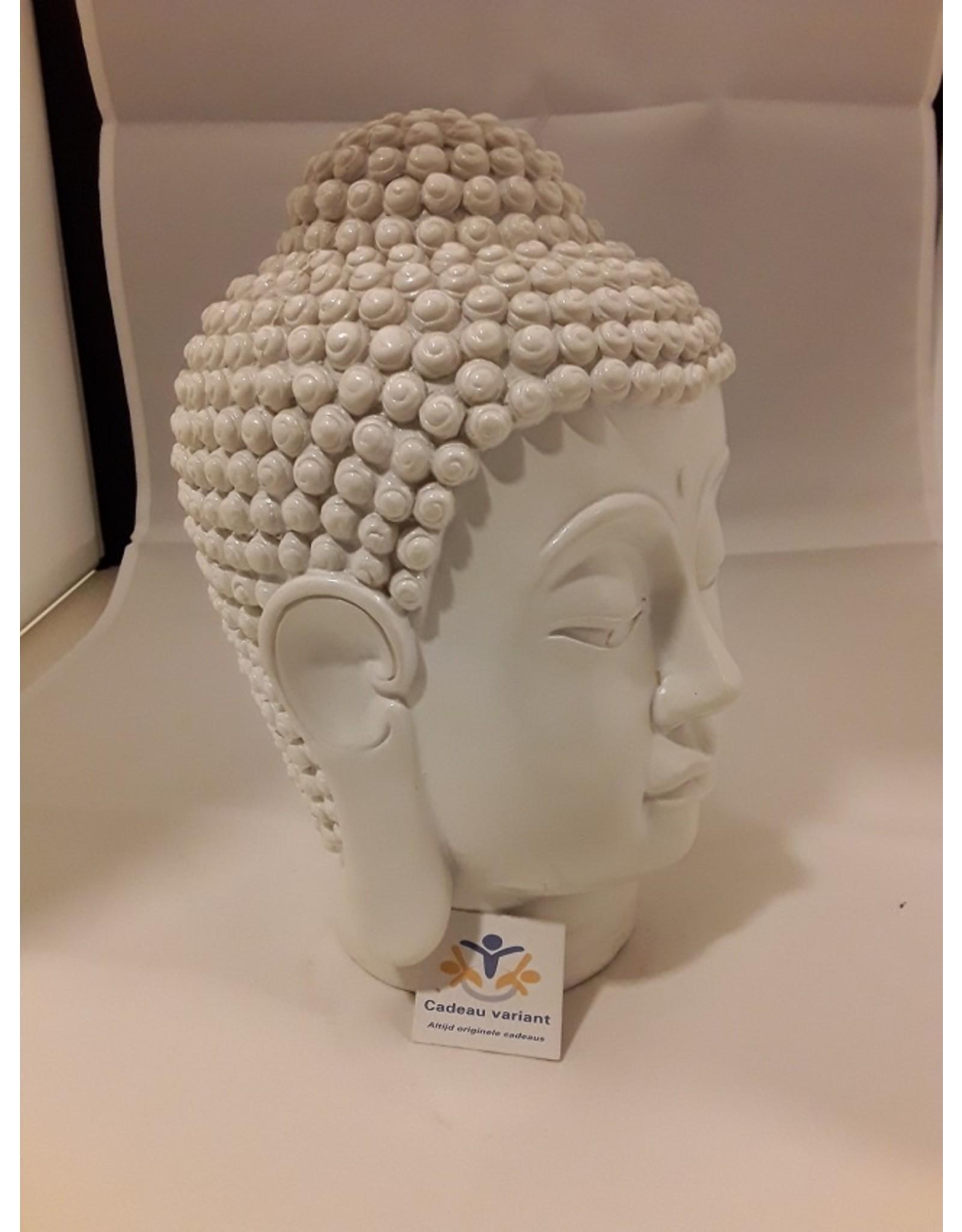 Boeddha hoofd wit 20 cm