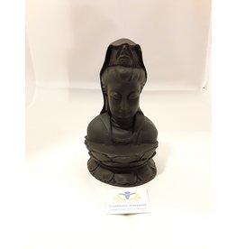 Kwan Yin beeld zwart