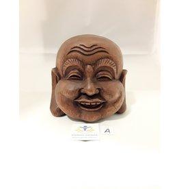Boeddha hoofd Suar hout