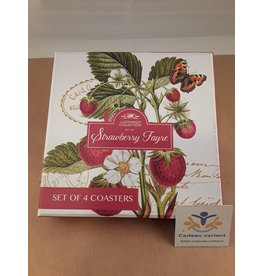 Leonardo collectie Onderzetters aardbeien en vlinder