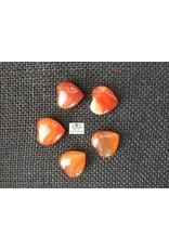 Carneool edelsteen hartje