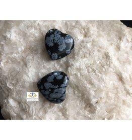 Obsidiaan sneeuwvlok hartje