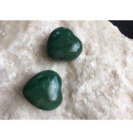 Jaspis groen edelsteen hartje
