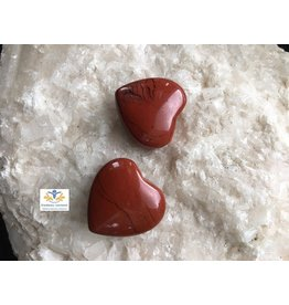 Jaspis rood edelsteen hartje