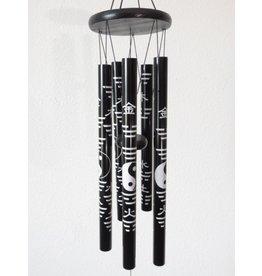 Windgong Yin Yang zwart 85 cm