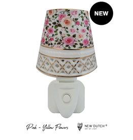 New Dutch Stekkerlamp kleine rozen roze