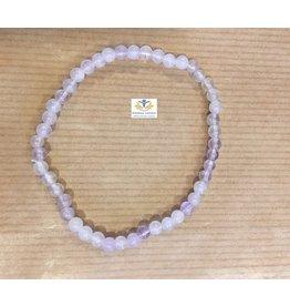 Lavendelkwarts 4 mm armband