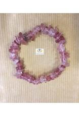 Aardbeienkwarts edelsteen armband