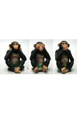 Chimpansee horen zien zwijgen set