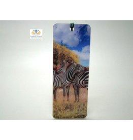 Boekenlegger zebra 3D