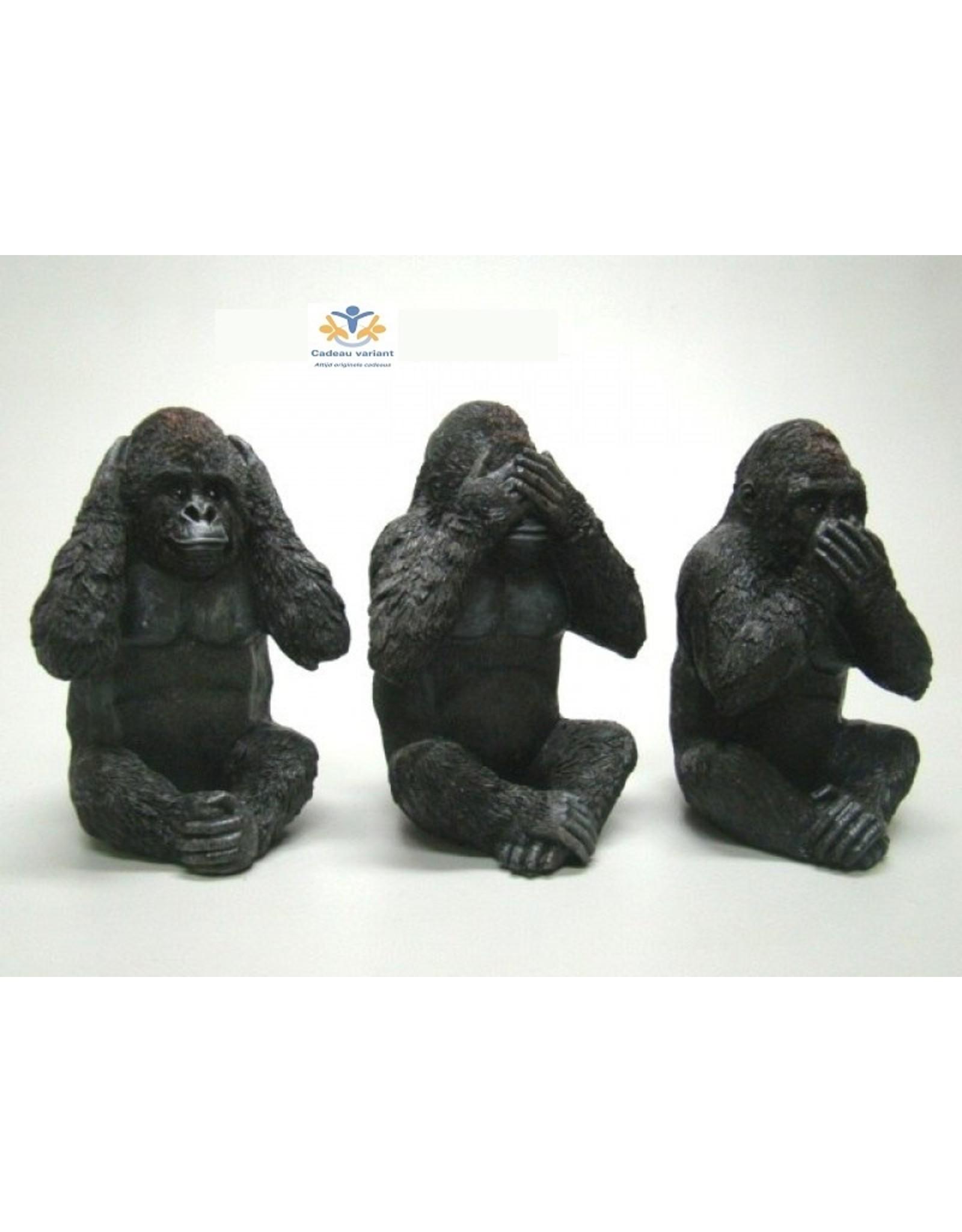 Gorilla horen zien zwijgen set