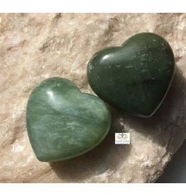 Jade edelsteen hart 4 cm