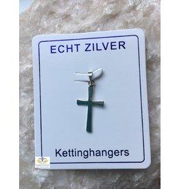 Kruis hanger zilver