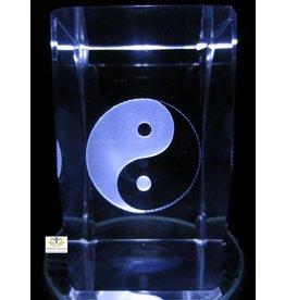Yin Yang glasblok