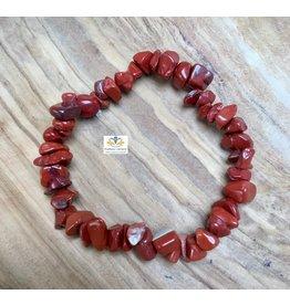 Jaspis rood armband splitstenen