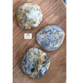Agaat crazy lace schijfsteen-zaksteen