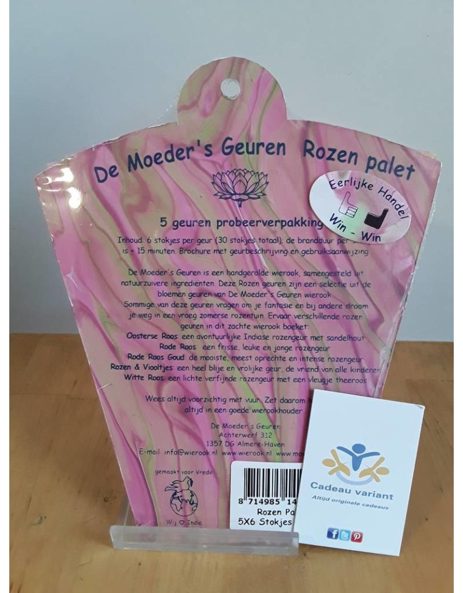 Moeders geuren wierook Wierook rozen palet cadeauset