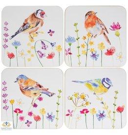 Leonardo collectie Onderzetters Vogels (tuinvogels)  4 stuks