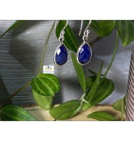 Lapis Lazuli  oorbellen zilver