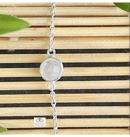 Maansteen armband zilver