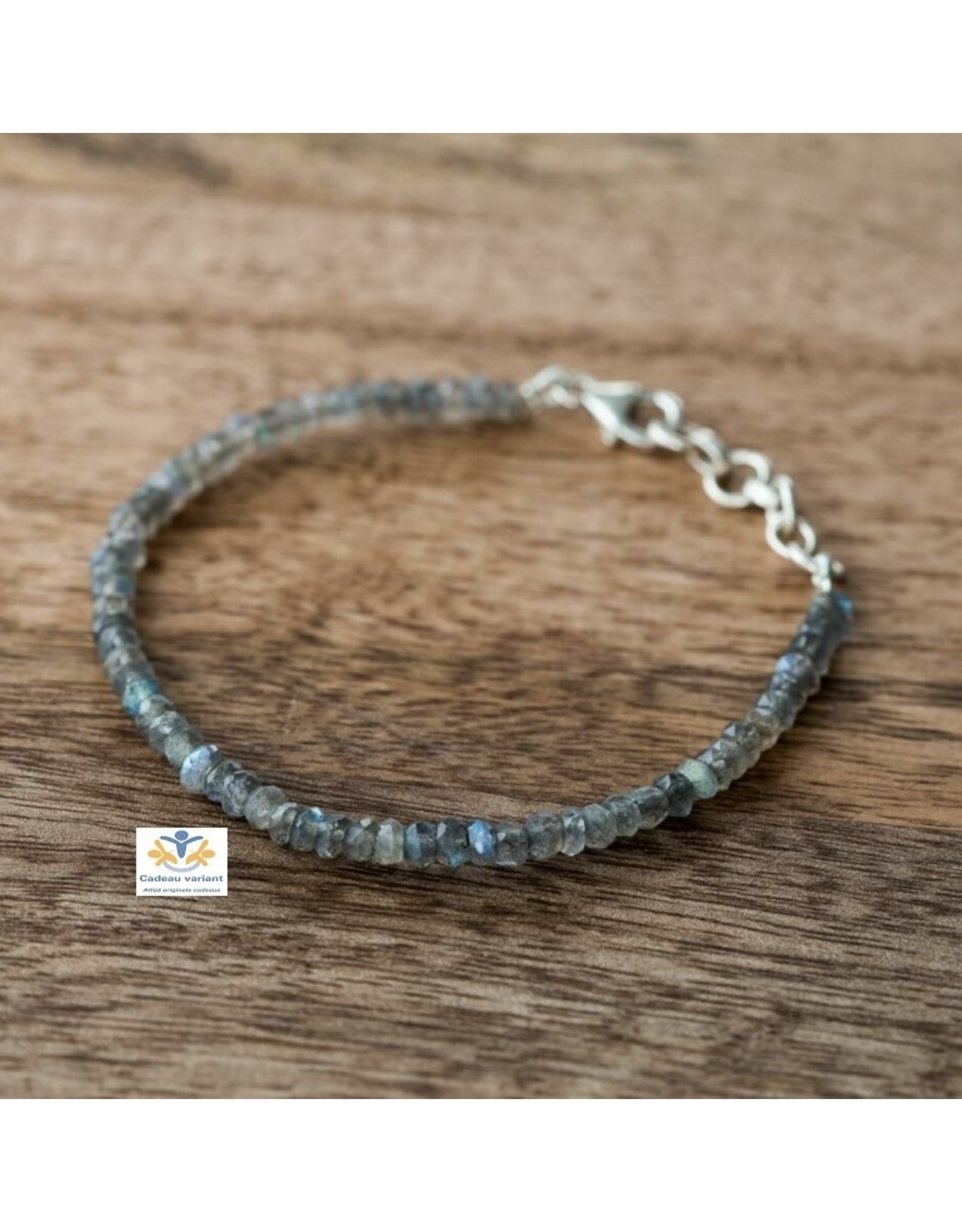 Labradoriet armband zilver