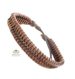 Armband trekkoord bruin Whirlybird